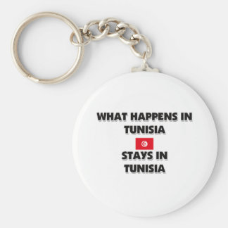 What Happens In TUNISIA Stays There Basic Round Button Key Ring