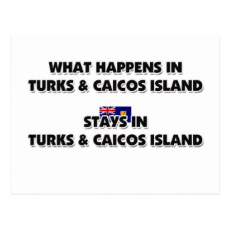 What Happens In TURKS & CAICOS ISLAND Stays There Postcard