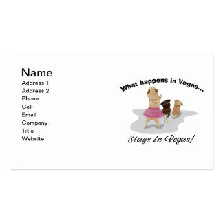 What Happens in Vegas Pug Bachelor Party Ts Gifts Business Card