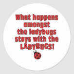What Happens  . . . Ladybugs Round Stickers