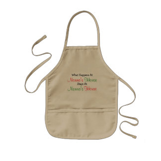 What Happens Nonna's House Kids Beige Apron