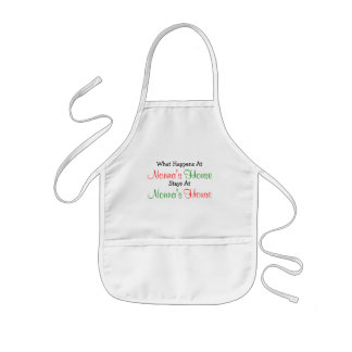 What Happens Nonna's House Kids Craft Apron