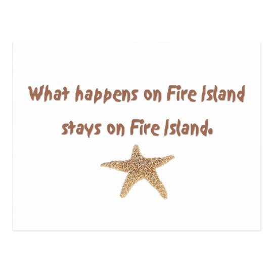 What Happens on Fire Island Postcard