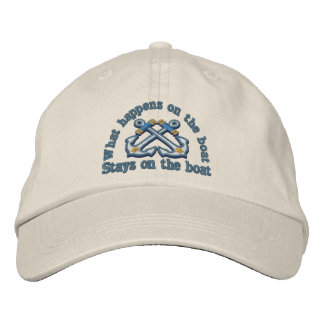 What happens on the boat ... crossed anchors baseball cap