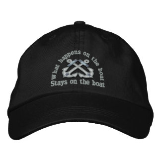 What happens on the boat ... crossed anchors embroidered cap