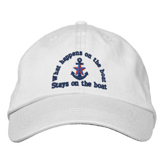 What happens on the boat nautical star anchor embroidered hat