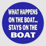 What happens on the boat stays on the boat - funny