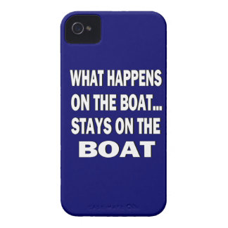 What happens on the boat stays on the boat - funny iPhone 4 covers