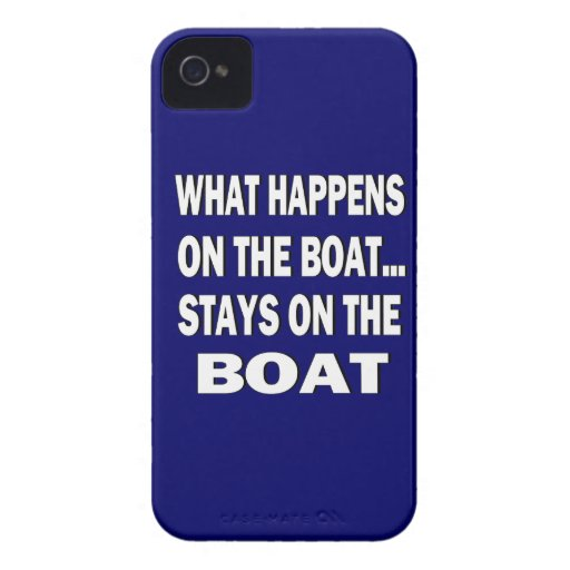 What happens on the boat stays on the boat - funny Case-Mate blackberry case