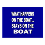 What happens on the boat stays on the boat - funny post card