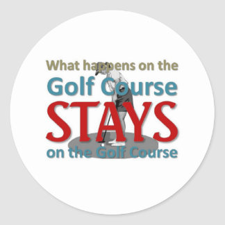 What happens on the golf course classic round sticker