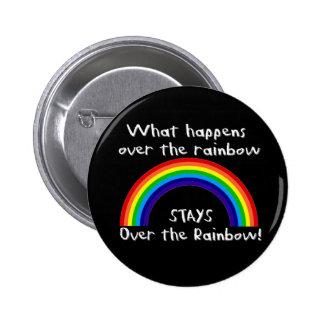 What Happens Over The Rainbow... 6 Cm Round Badge
