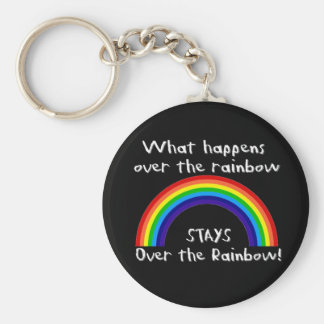 What Happens Over The Rainbow... Basic Round Button Key Ring