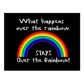 What Happens Over The Rainbow Postcards