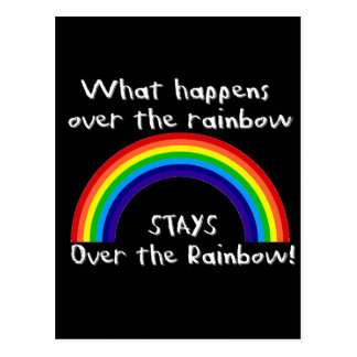 What Happens Over The Rainbow Post Cards
