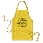 What Happens with the Sisters Standard Apron