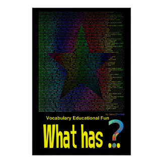 What has Star Poster Book Non-Rhyming