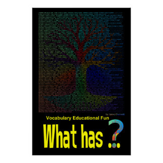 What has Tree Poster Book Non-Rhyming