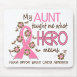 What Hero Means Breast Cancer Aunt Mousepads