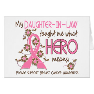 What Hero Means Breast Cancer Daughter-In-Law Cards