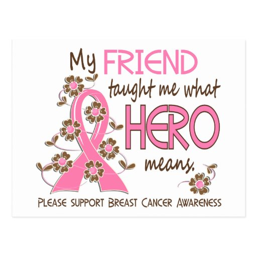 What Hero Means Breast Cancer Friend Post Cards