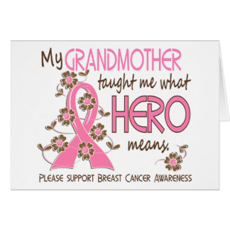 What Hero Means Breast Cancer Grandmother Cards