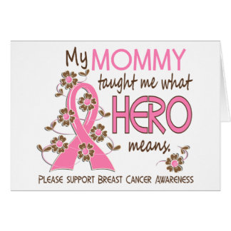 What Hero Means Breast Cancer Mommy Card