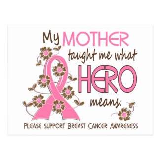 What Hero Means Breast Cancer Mother Postcard