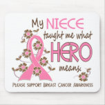 What Hero Means Breast Cancer Niece Mouse Pads