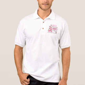 What Hero Means Breast Cancer Niece Polo T-shirts