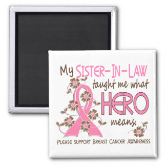 What Hero Means Breast Cancer Sister-In-Law Square Magnet