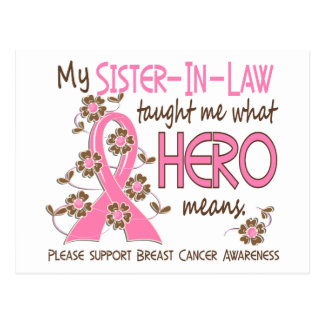 What Hero Means Breast Cancer Sister-In-Law Postcard