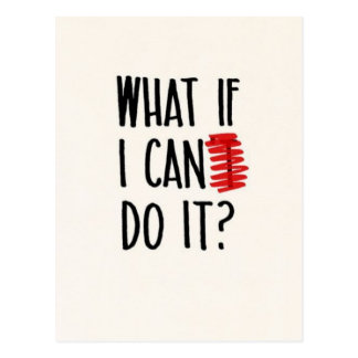 What If I Can't Do It? Motivational Postcard