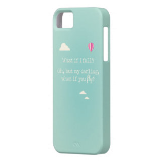 """""""What if I fall? but my darling, what if you fly"""" iPhone 5 Case"""