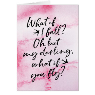 What if I fall, encouragement greeting card