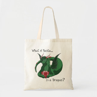 What if Santa is a Dragon Design Tote Bag