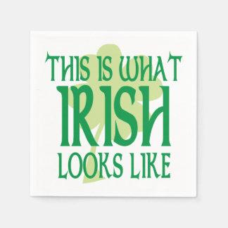 What Irish Looks Like Shamrock Disposable Napkins