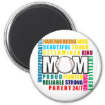What is a Baseball Mum copy.png 6 Cm Round Magnet