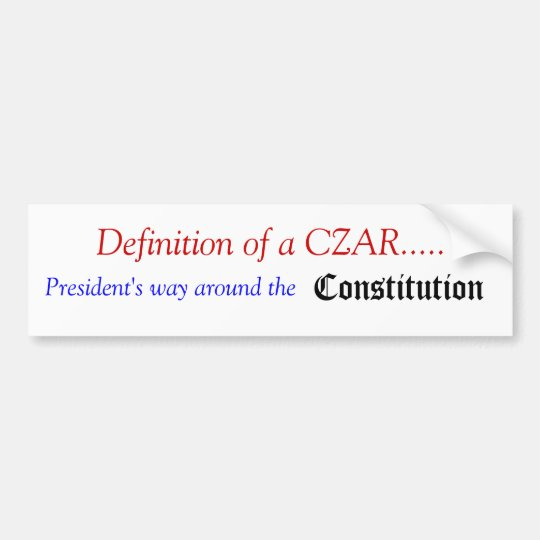 What is a CZAR Bumper Sticker