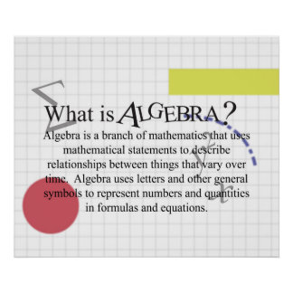 What is Algebra? Poster *Updated*