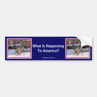 What Is Happening To America Bumper Sticker