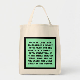 What is life? grocery tote bag