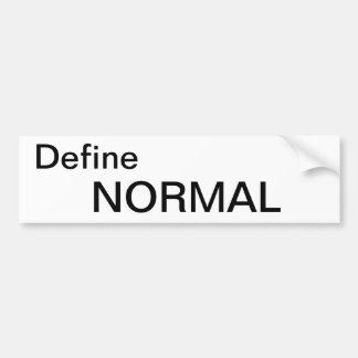 What is normal bumper sticker