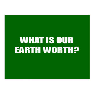 What is our Earth worth Postcards