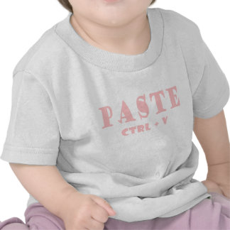 What is the shortcut for paste t shirt