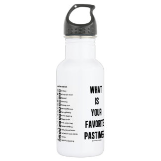 What Is Your Favorite Pastime? (Land Recreation) 532 Ml Water Bottle