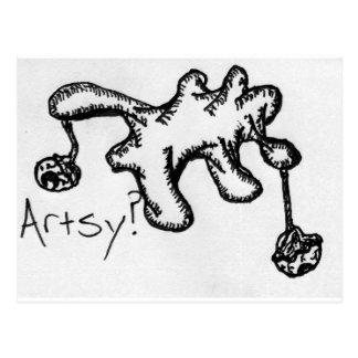 What Keeps Mankind Artsy? Postcard