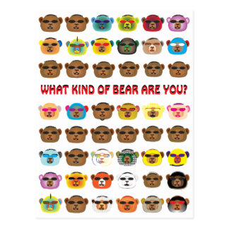 What kind of bear are you? postcard