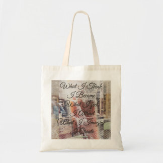 What l think l become tote bag