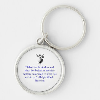 What lies within us Silver-Colored round key ring